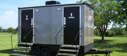 vip portable restroom trailers in Rochester NY